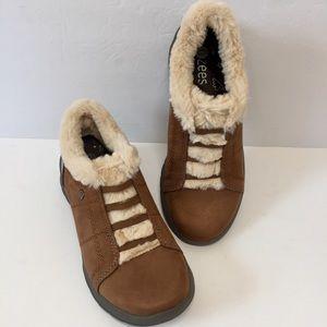 Bzees Faux Fur Toffee Slip On Winter Sneaker Boots